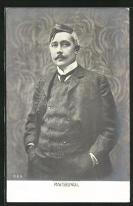 AK Portrait Maeterlingk im Anzug mit Krawatte