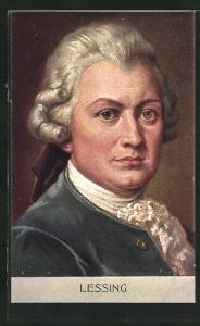 AK Portrait des Schriftstellers Lessing