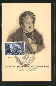 Künstler-AK Vicomte de Chateaubriand (Francois-Rene)