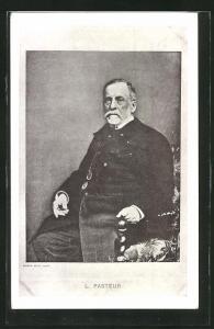 AK Portrait Louis Pasteur 1822-1895