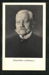 AK Reichspräsident v. Hindenburg im Anzug