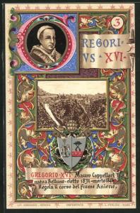 Lithographie Papst Gregorius XVI., Mauro Cappellari (1831-1846)