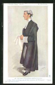 AK Mr. Henry Fielding Dickens, K.C., britischer Rechtsanwalt