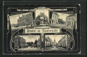 AK Koewacht, Villa Mathilda, Markt, Marechaussee-Kazerne