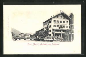 AK Achenkirch, Mayer`s Gasthaus am Achensee