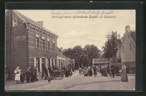 AK Koewacht, Ortspartie mit Einwohnern