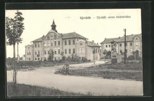 AK Ujvidék, Ujvidék város közkórháza, Gebäude im Ort