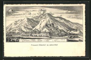 AK Friesach, Gesamtansicht im Jahre 1649