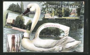 AK Sonsbeek, Zwanenburg, Belvedere, Kasteel