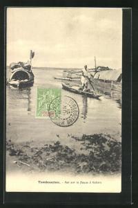 AK Tombouctou, Vue sur le fleuve à Kabara