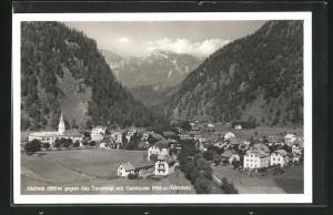 AK Mallnitz, Ortsansicht gegen das Tauerntal mit Gaislspitze