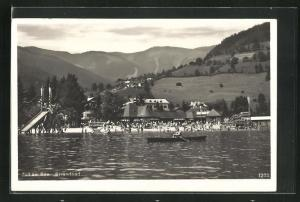 AK Zell am See, Blick zum Strandbad