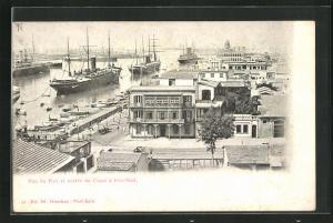 AK Port Said, Vue du Pont et entrée du Canal