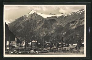AK Dorf Kaprun, Ortsansicht mit Kitzsteinhorn