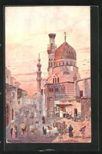 Künstler-AK Cairo, Native quarter