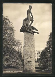 AK Oslo, Abel-monumentet, Standbild