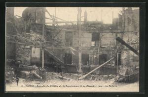 AK Nantes, Incendie du Thèatre de la Renaissance, le 19 Dècembre 1912-La paterre