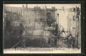AK Nantes, Incendie du Thèatre de la Renaissance, le 19 Dècembre 1912-Vue de la Salle