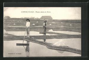 AK Carnac-Plage, Marais salants du Breno, Salzgewinnung