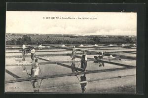 AK Ile de Rè-Saint Martin, Les Marais salants, Salzgewinnung