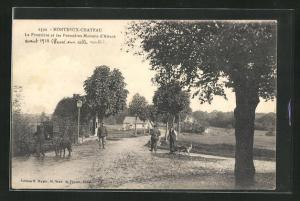 AK Montreux-Chateau, La Frontière et les Premières Maisons d` Alsace