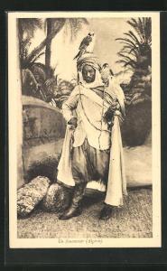 AK Un fauconnier, Algérie, Algerischer Falkner