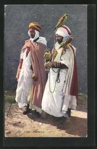AK Fauconnier, zwei Falkner aus Nordafrika