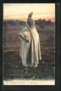 AK Un Fauconnier, Portrait eines Falkners