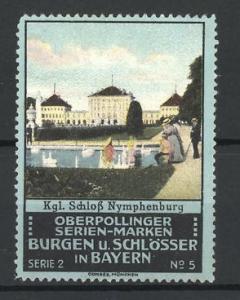 Reklamemarke Nymphenburg, Ansicht des Königl. Schlosses