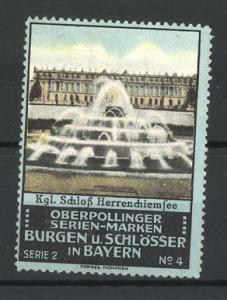 Reklamemarke Chiemsee, Kgl. Schloss Herrenchiemsee