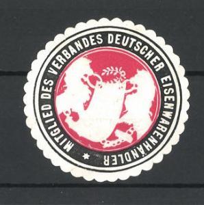 Präge-Reklamemarke Verband Deutscher Eisenwarenhändler, Wappen