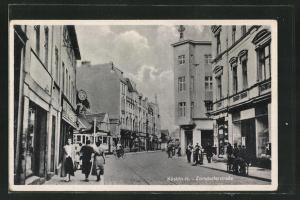 AK Cuestrin-N, Zorndorferstrasse mit Passanten
