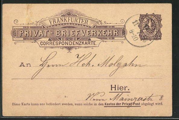 AK Frankfurt, Privat-Briefverkehr 0