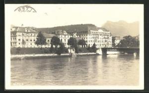 AK Olten, Teilansicht mit Brücke