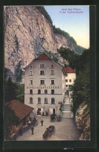 AK Pfäfers, Hotel Bad Pfäfers in der Taminaschlucht