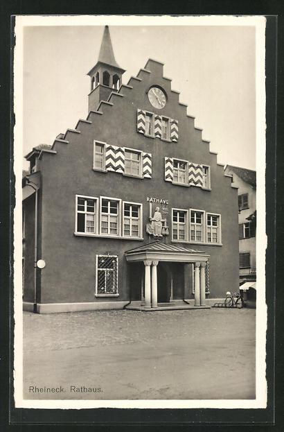 Foto-AK Rheineck, Motiv vom Rathaus 0