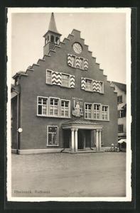 Foto-AK Rheineck, Motiv vom Rathaus