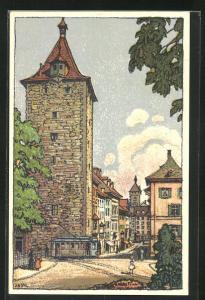 Künstler-AK Schaffhausen, Partie am Obertor