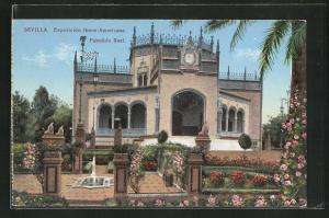 AK Sevilla, Exposicion Ibero-Americana, Pabellon Real, Ausstellung