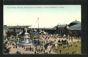 AK Toronto, Toronto Exhibition, Grand Plaza, showing Manufacturers` Building