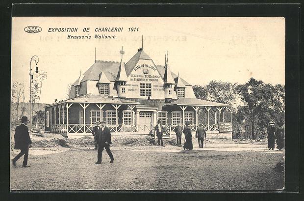 AK Chaleroi, Exposition 1911, Brasserie Walonne 0