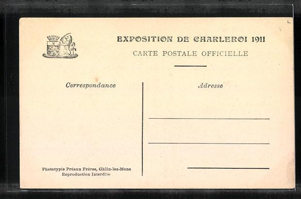 AK Chaleroi, Exposition 1911, Brasserie Walonne 1