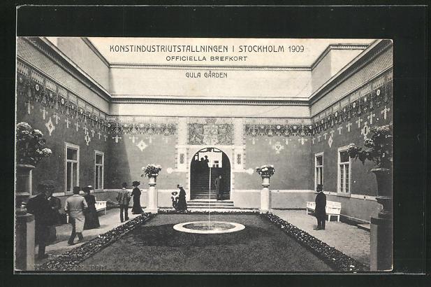 AK Stockholm, Konstindustriutställningen 1909, Gula Garden 0