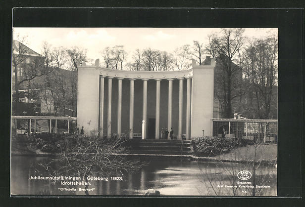 AK Götebrog, Jubileumsutställningen 1923, Idrottshallen 0