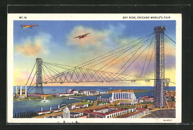 AK Chicago, World`s Fair 1933, Sky Ride 0