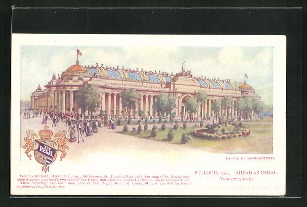 AK St. Louis, World`s Fair 1904, Palace of Manufactures, Ausstellung 0