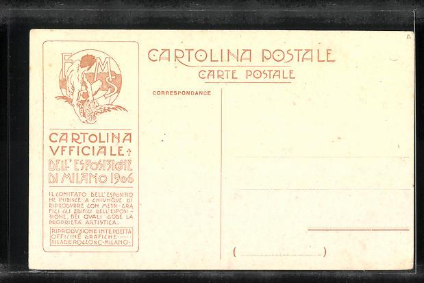Künstler-AK Milano, Esposizione 1906, Padiglione Stampa 1