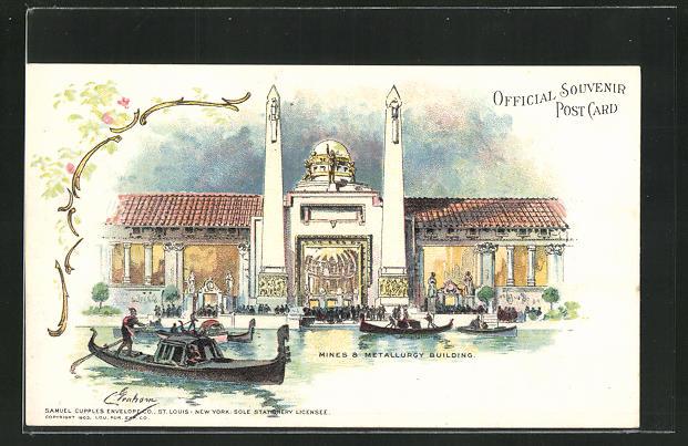 AK St. Louis, World`s Fair 1904, Mines & Metallurgy Building, Ausstellung 0