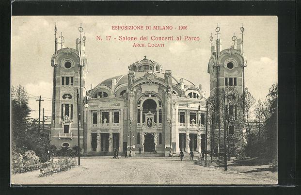 AK Milano, Esposizione 1906, Salone dei Concerti al Parco 0