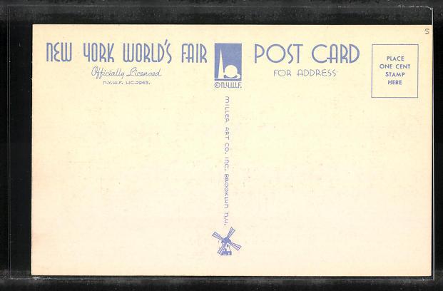 AK New York, World`s Fair 1939, Scene near Hall of Communications 1